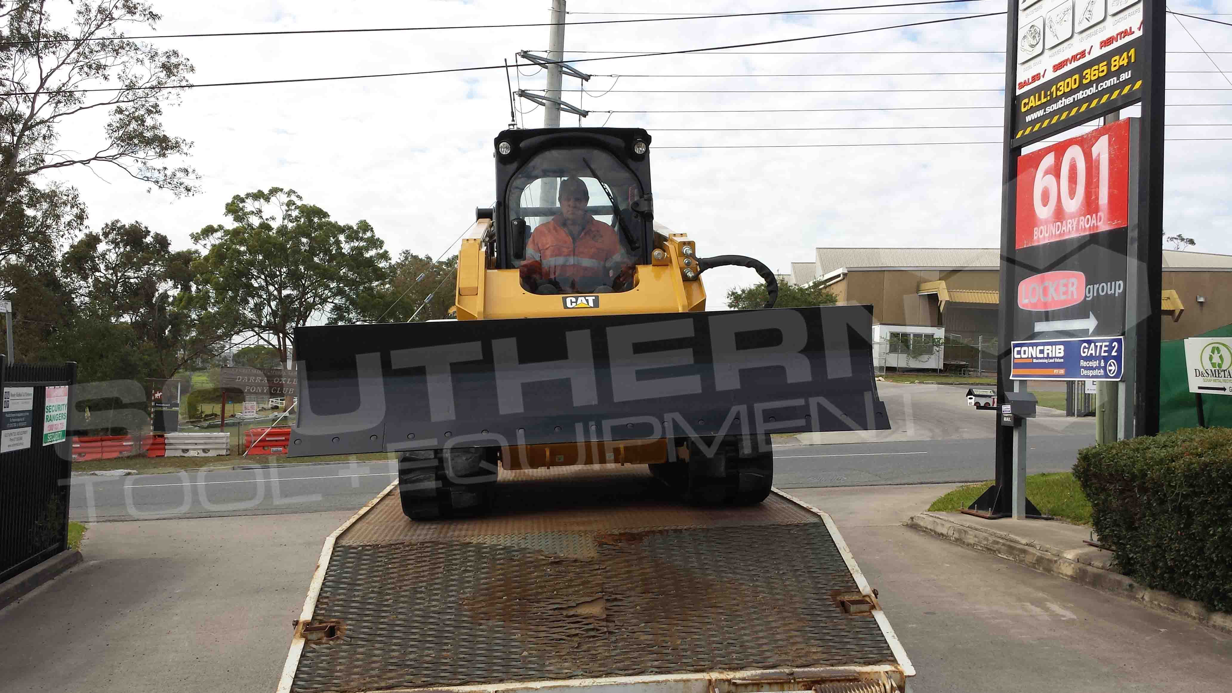 1450mm Heavy Duty Angle Skid Steer Dozer Blade – Southern