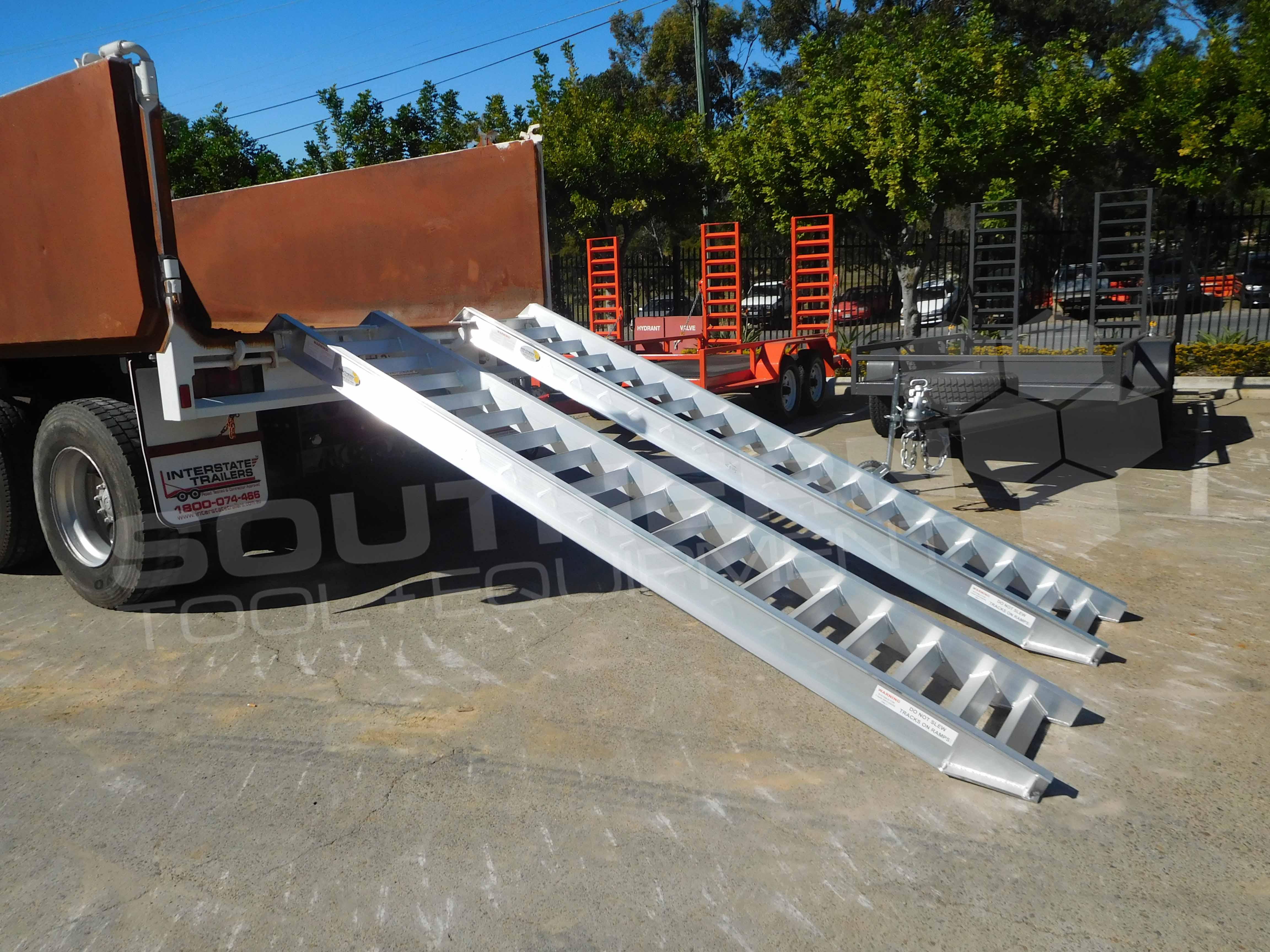 75 Ton Heavy Duty Aluminium Loading Ramps Southern Tool 14