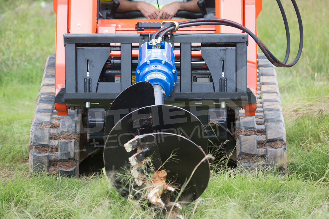 how to use a skid steer auger